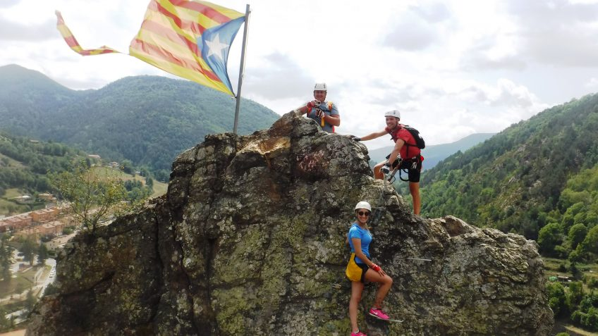 pack barranquismo y via ferrata en barcelona 67