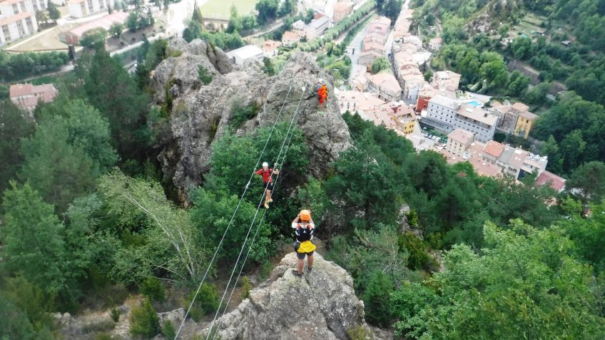 pack barranquismo y via ferrata en barcelona 91