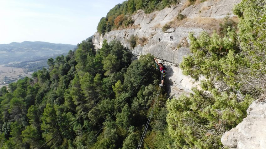 via ferrata en barcelona en grupo reducido 15