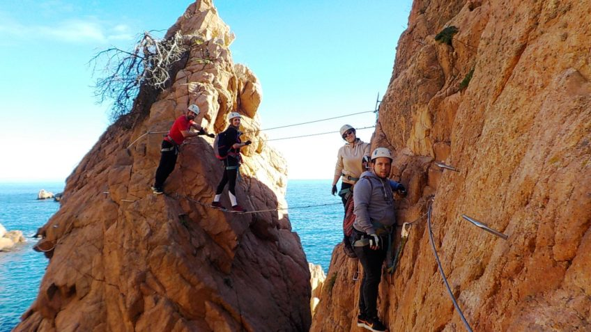via ferrata sobre el mar cala moli 15