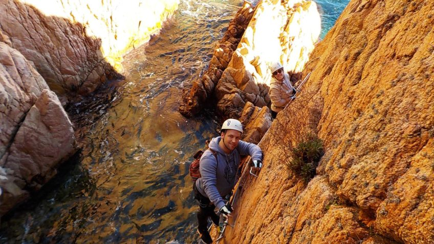 via ferrata sobre el mar cala moli 16