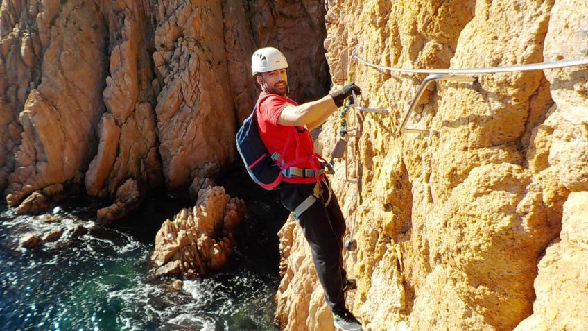 via ferrata sobre el mar cala moli 29