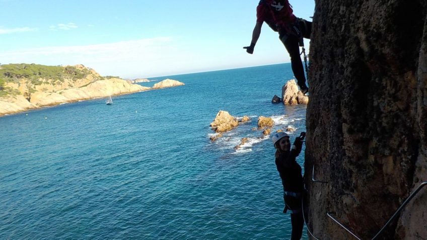 via ferrata sobre el mar cala moli 34